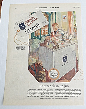 1926 Graybar Electric Company With Boy On Washer (Image1)