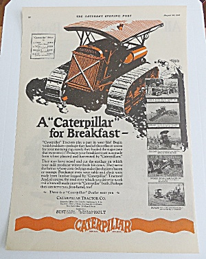 1926 Caterpillar Tractor With Caterpillar For Breakfast