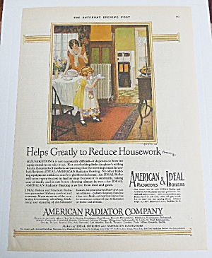 1926 American Radiator With Mom & Child Cleaning Table (Image1)