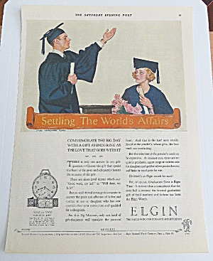 1926 Elgin Watch W/graduates By James Montgomery Flagg