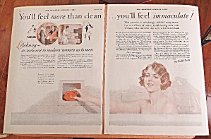 1926 Lifebuoy Soap With Woman In The Bathtub