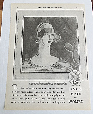1927 Knox Hats For Women With Woman Wearing Sport Hat