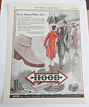 1927 Hood Galoshes With Couple Walking In Rain (Image1)