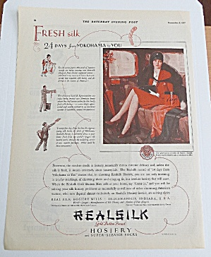 1927 Realsilk Hosiery With Woman Sitting In Car (Image1)