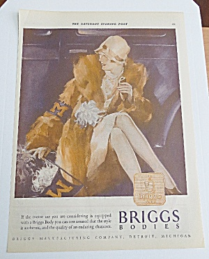 1927 Briggs Body With Woman Sitting By Car