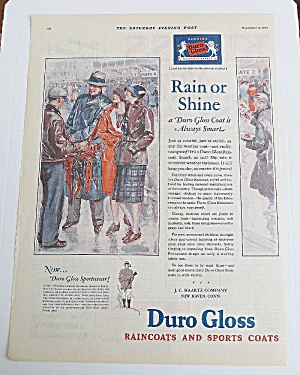1927 Duro Gloss Raincoats With People Talking In Rain (Image1)
