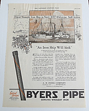 1927 Byers Pipe With An Iron Ship (Image1)