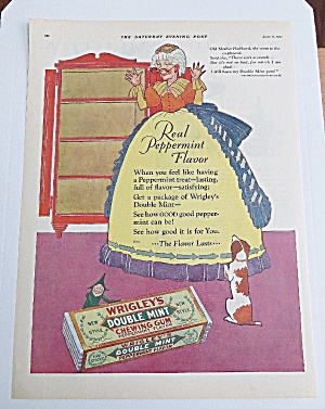 1927 Wrigley's Double Mint Gum With Old Mother Hubbard