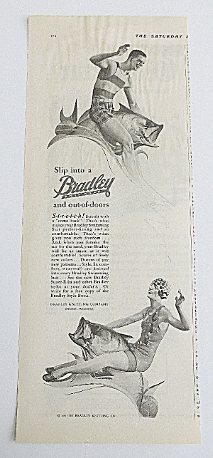 1927 Bradley Knit Wear With Man & Woman Riding A Fish (Image1)