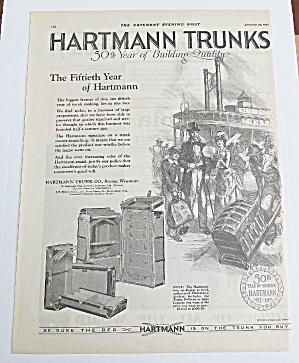 1927 Hartmann Trunks With People Boarding Ship