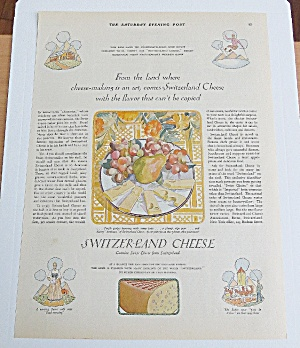 1928 Switzerland Cheese With Fruit & Cheese