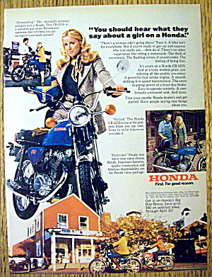 1976 Honda CB-125S with Suzanne Somers (Image1)