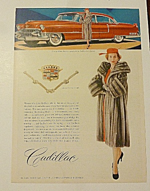 1955 Cadillac With Woman In Gray Fur