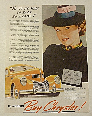 1939 Chrysler With Woman Smiling