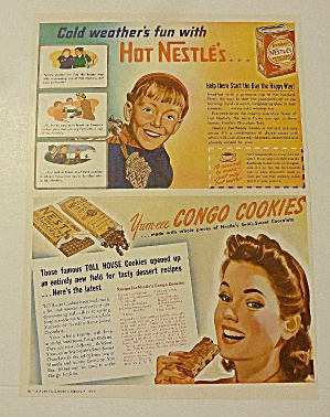1942 Nestle Cocoa & Chocolate With Congo Cookies