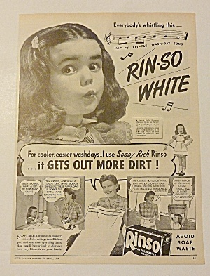 1944 Rinso Soap With Little Girl Whistling (Image1)