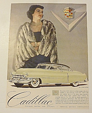 1950 Cadillac With Woman In Black Fur