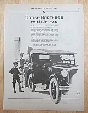 1924 Dodge Automobile With Dodge Brothers Touring Car