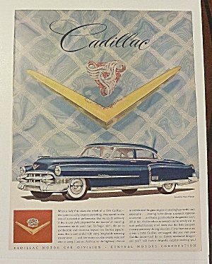 1953 Cadillac With Lovely Silver & Red Brooch