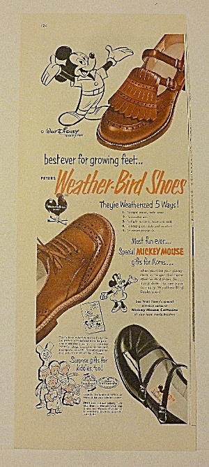 1953 Weather Bird Shoes With Mickey Mouse (Image1)