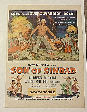 1955 Son Of Sinbad With Dale Robertson & Sally Forrest