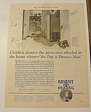 1928 Bryant Gas Heating With Child By Furnace (Image1)