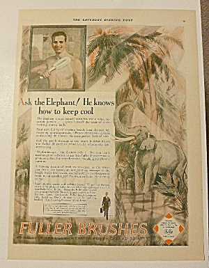 1928 Fuller Brushes With Elephant & Man Bathing (Image1)