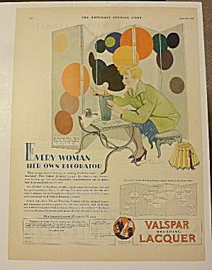 1928 Valspar Lacquer With Woman Paints Lamp (Image1)
