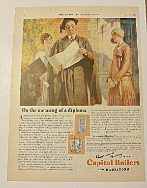 1928 Capitol Boiler With Graduate Holding Diploma (Image1)