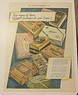 1928 Whitman's Candies With Variety Of Samplers