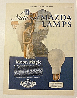 1928 Mazda Lamps With Woman & Child (Image1)