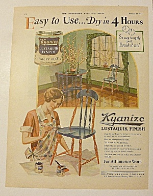 1928 Kyanize Lustaquik Finish With Woman Painting (Image1)