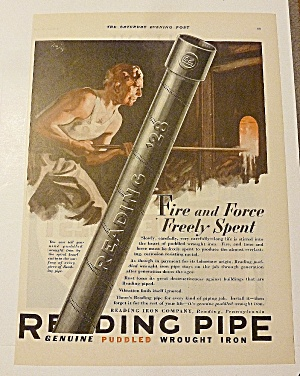 1928 Reading Pipe With Man Working (Image1)
