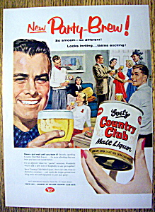 Vintage Ad: 1955 Goetz Country Club Malt Liquor