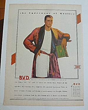 1929 B.V.D With Man In Bathrobe (Image1)