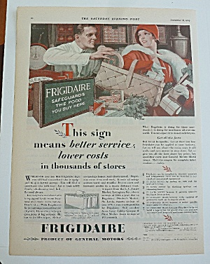 1929 Frigidaire With Woman Shopping (Image1)