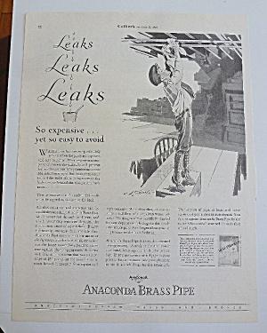 1929 Anaconda Brass Pipe With Boy Fixing Leak (Image1)