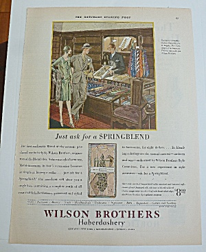 1929 Wilson Brothers With Couple Shopping