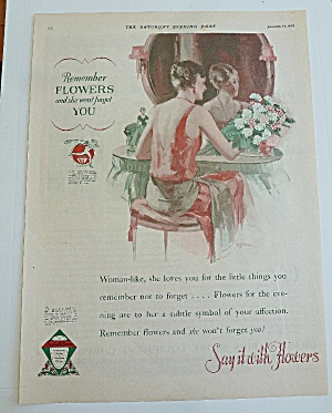 1929 Say It With Flowers With Woman In Red