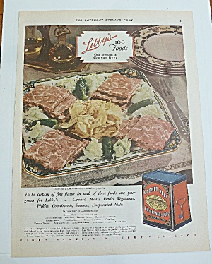 1929 Corned Beef With Potato Chips