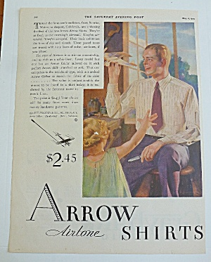 1929 Arrow Shirts With Man & Little Girl