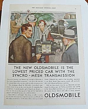 1931 Oldsmobile With People & Transmission