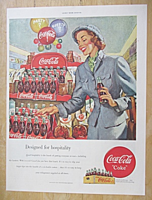 1949 Coca Cola (Coke) With Woman Shopping