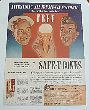 1942 Safe - T Cones With Sailor & Soldier