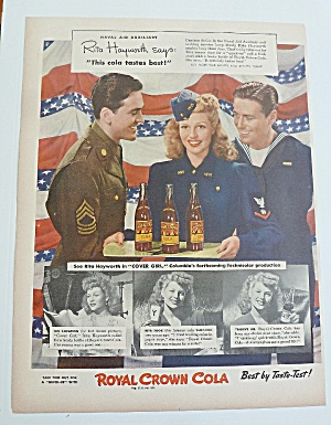 1943 Royal Crown Cola With Rita Hayworth