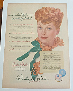 1944 Woodbury Powder With Lucille Ball (I Love Lucy) (Image1)
