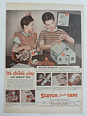 1946 Scotch Cellulose Tape With Child's Play