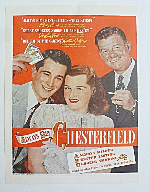 1947 Chesterfield Cigarette W/ Como, Stafford & Godfrey