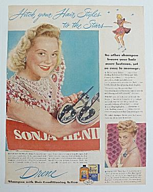 1947 Drene Shampoo With Skater Sonja Henie (Image1)