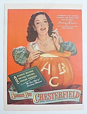 1947 Chesterfield Cigarettes With Dorothy Lamour (Image1)